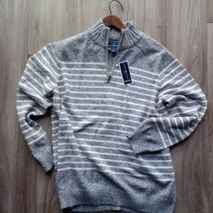 Sweaters - New Nautical Striped 100% Cotton Sweater 1X